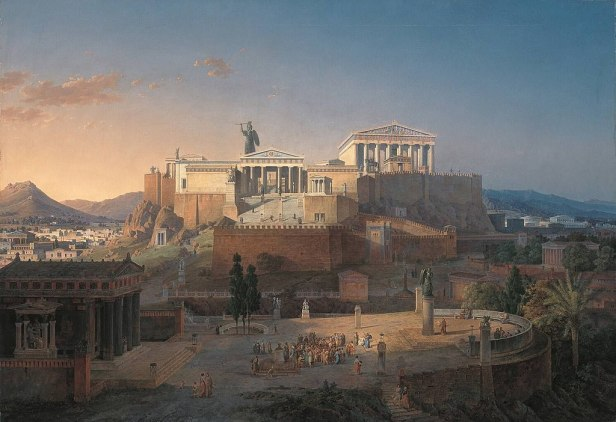Painting of the Acropolis by Leo von Klenze